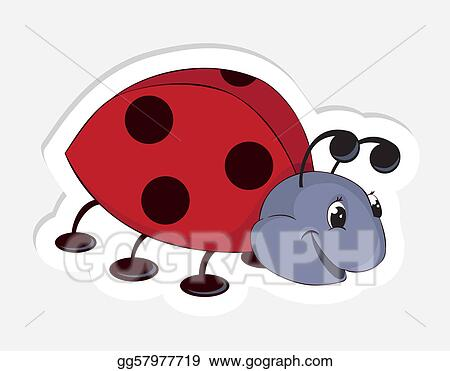 Fun cartoon ladybug