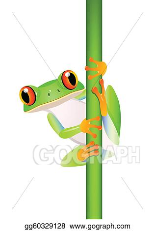 Funny frog cartoon