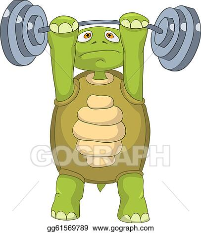 Vector Art - Funny turtle. gym. Clipart Drawing gg61569789 - GoGraph