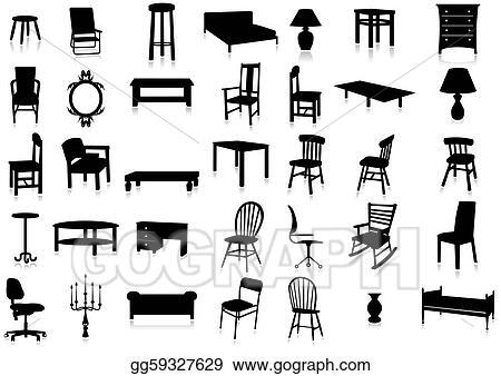 Eps Vector Furniture Silhouette Vector Illustr Stock
