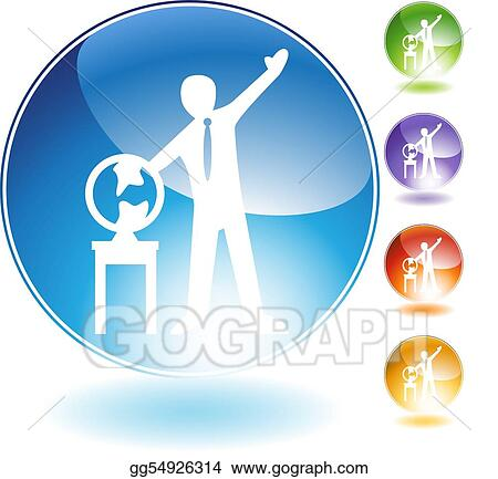 Geography Teaching Crystal Icon