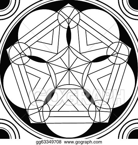 Clip art geometric mandala drawing sacred circle stock illustration