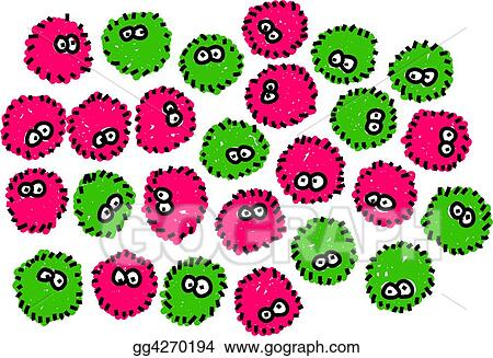 Germs isolated on white medical art series clip art gg4270194 csp
