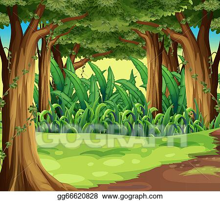 vector art giant trees in the forest clipart drawing flower with roots clipart tree roots clip art free