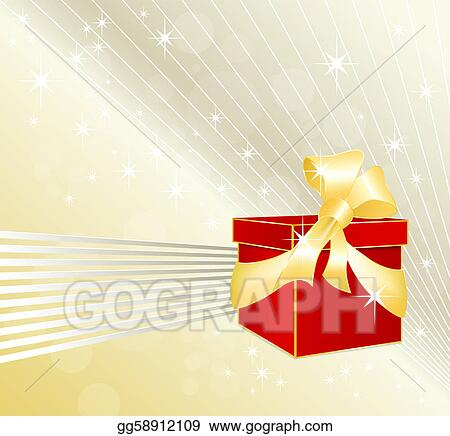 Gift box with festive background