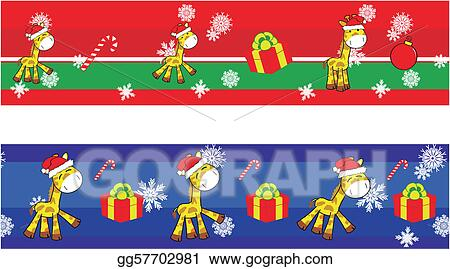 giraffe cartoon xmas banner1