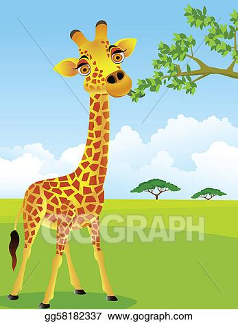Giraffe eat leaf