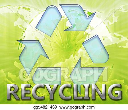 Global recycling eco symbol