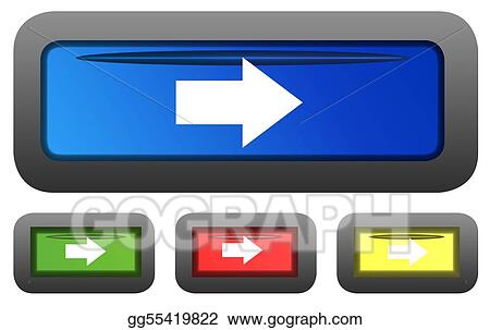 Glossy directional arrow buttons