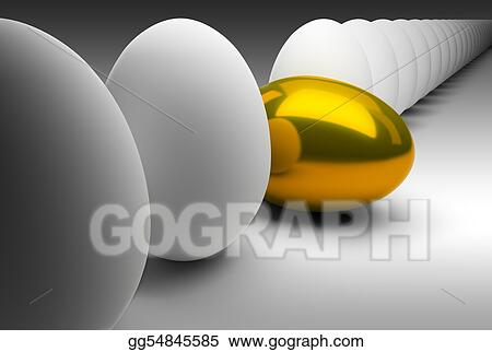 Gold egg in dropped out of a general series