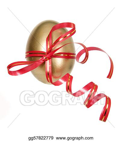 Golden egg for present