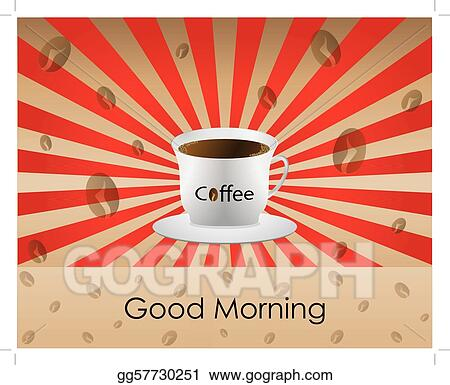 Clip art good morning coffee background stock illustration