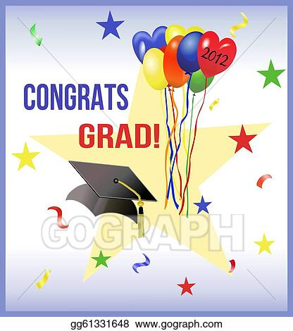 Stock Illustration - Graduation party design for 2012 ...
