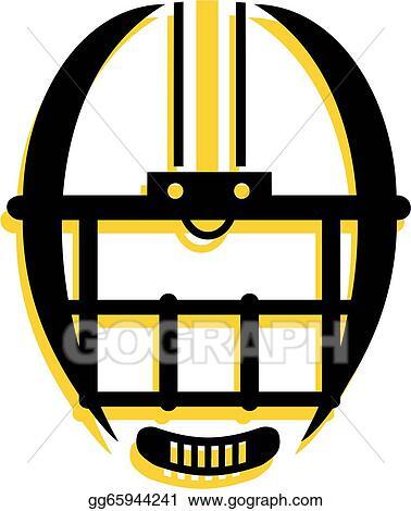 vector stock graphic outline of football helmet stock
