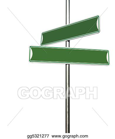 Green Blank Directional Metal Sign Post