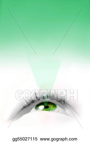 Green floating eye