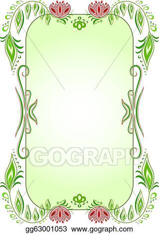 Vertical Oval Frame Clipart Stock Illustration - G...