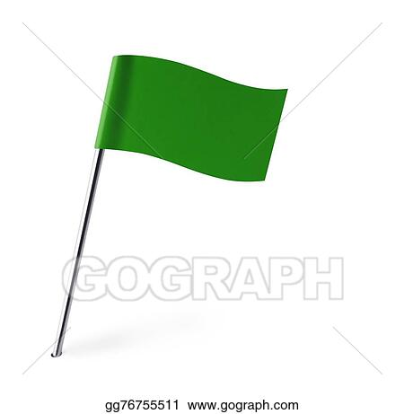 Stock Illustration - Green wave flag. Clipart Drawing gg76755511 ...