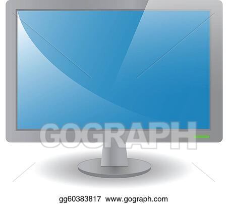 Grey desktop monitor