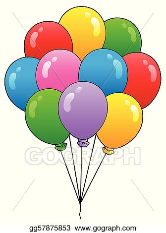 Group of cartoon balloons 1