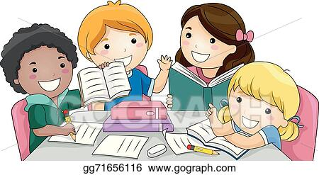 EPS Illustration - Group study. Vector Clipart gg71656116 ...