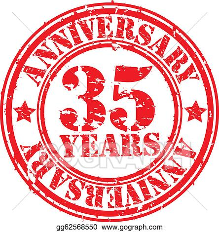 35th Wedding Anniversary Symbol Stepping Stones Celebrates 35th
