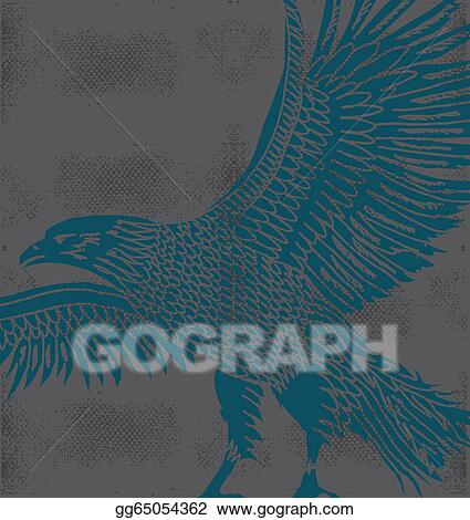 Stock Illustration - Grunge background tribal tattoo eagle vector art ...