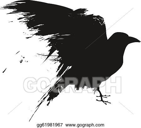 Raven Clip Art - Royalty Free - GoGraph