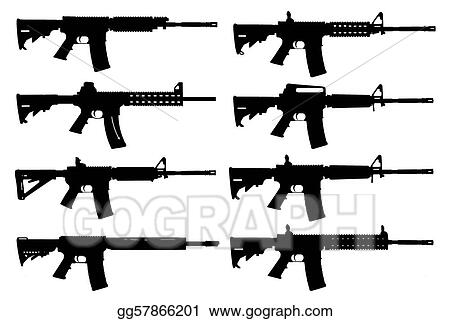 Stock Illustration Guns Silhouette Clipart Gg57866201