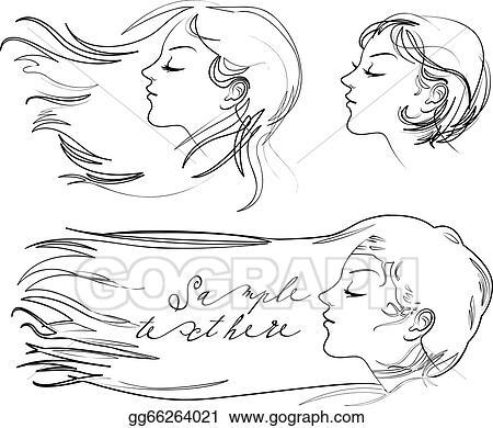 Hair fluttering wind