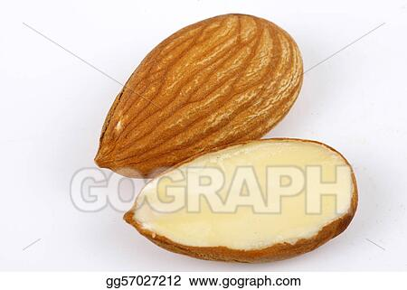 Half cut Almond with full Almond