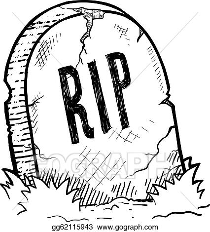 Stock Illustration Halloween Tombstone Sketch Clipart