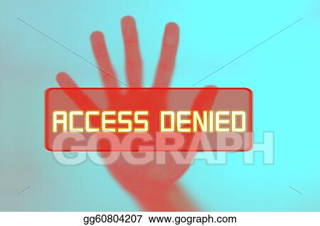hand in halting gesture, concept for access denied