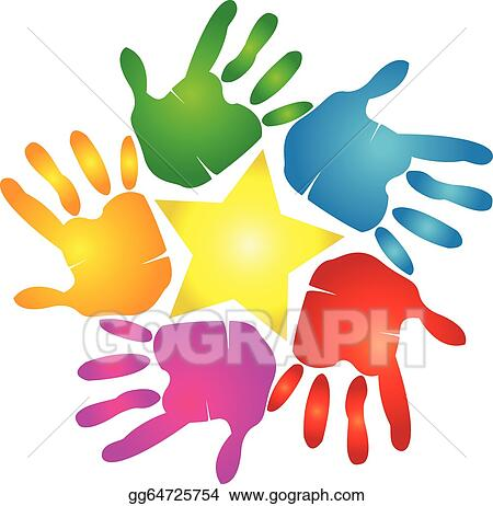 Handprint Clip Art - Royalty Free - GoGraph