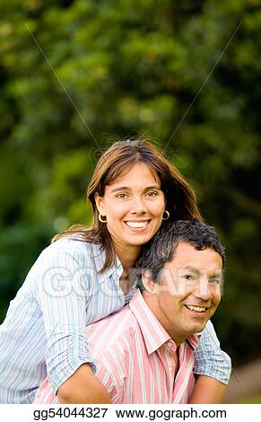 happy and energetic couple portrait