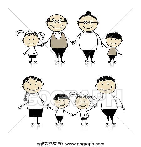 Black Grandparents Day Clip Art grandparents and children