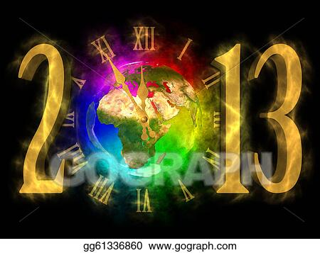 Stock illustrations happy new year 2013 europe stock clipart gg61336860 - Happy new year sound europe ...