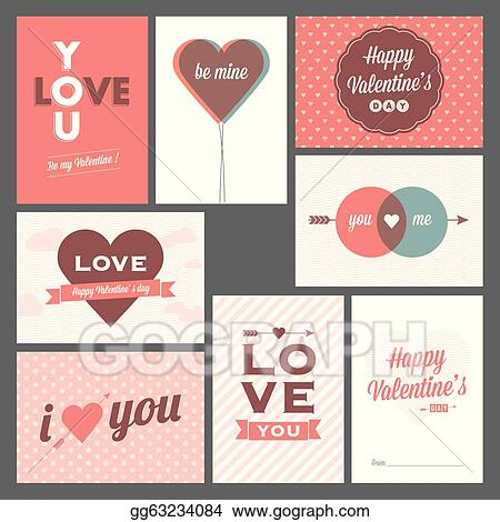 Drawings - Happy valentines day and weeding ca. Stock ...