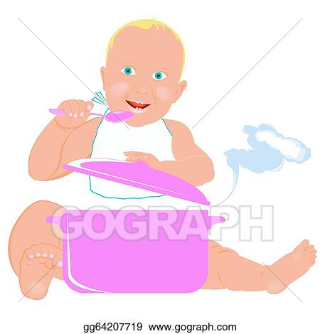 clipart healthy nutrition food for baby stock illustration gg64207719