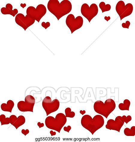Clip Art Valentines Day Borders Clip Art valentines day border hearts stock illustrations royalty free lace heart border