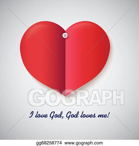 Heart cut out vector