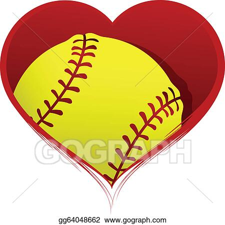 Clip Art Free Softball Clipart softball clip art royalty free gograph heart with inside