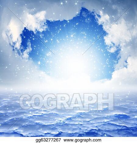... background - blue sky, bright sun, heaven. Clip Art gg63277267