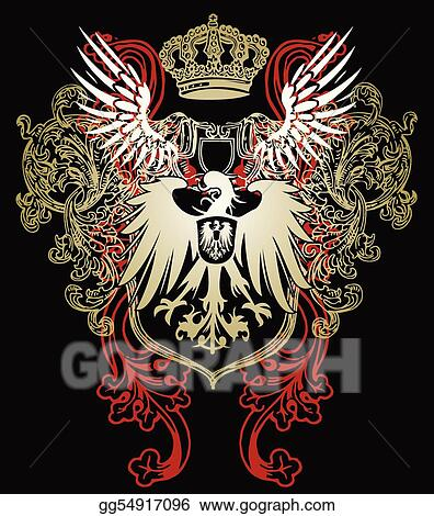 heraldic eagle emblem