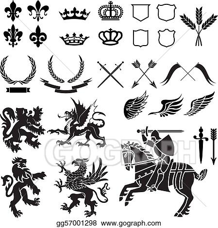 Heraldry Ornament Set