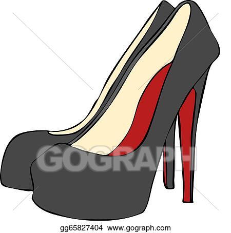 heeled stiletto shoes. can be resized. . Stock Illustration gg65827404