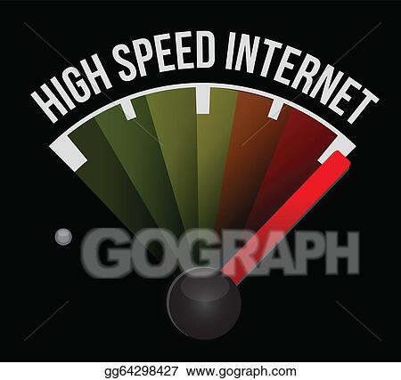 Clipart - High speed internet Speedometer scoring high speed ...