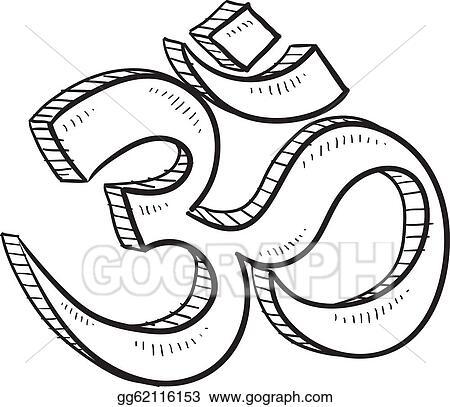 EPS Illustration - Hindu om sketch. Vector Clipart gg62116153 ...