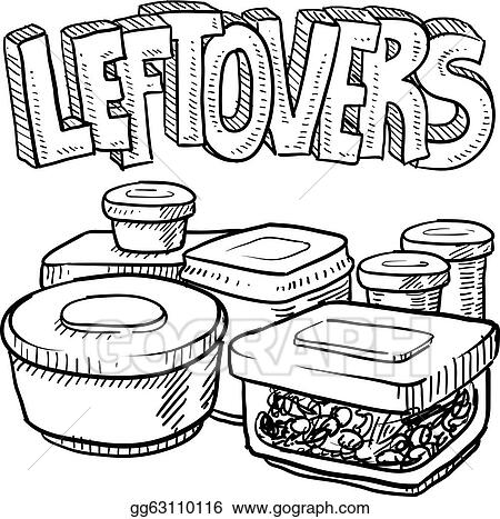 Holiday Leftovers Food Sketch Gg63110116 on refrigerator can storage