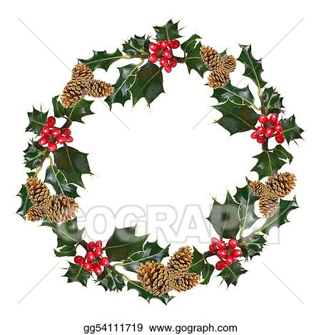 Holly and Pine Cone Wreath